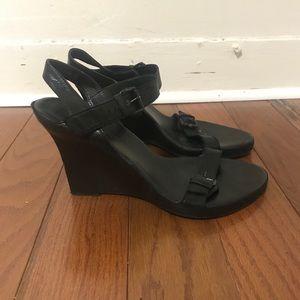 Ann Demeulemeester black wedge heels size 38.5